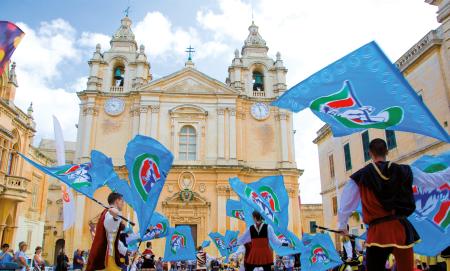 Festival no largo da igreja, herança cultural intangível, Malta