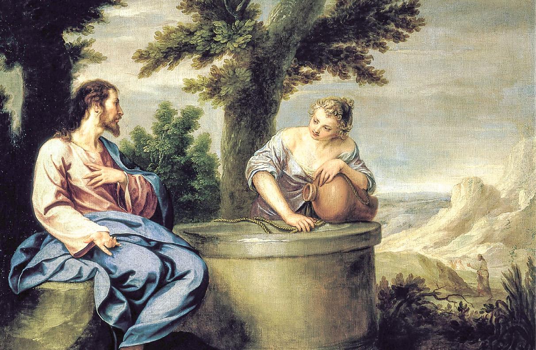 Jesus e a Samaritana, junto ao poço de Jacob, óleo sobre tela de Alonzo Cano, sec XVII