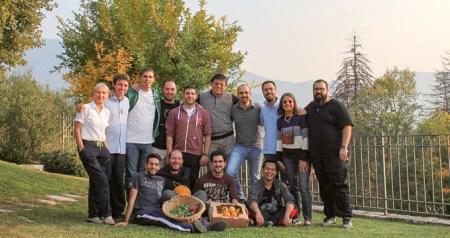 Postulantes na comunidade de Brescia, Itália, ano de 2017/2018. O Diogo, de Portugal é o quarto da esquerda para a direita.