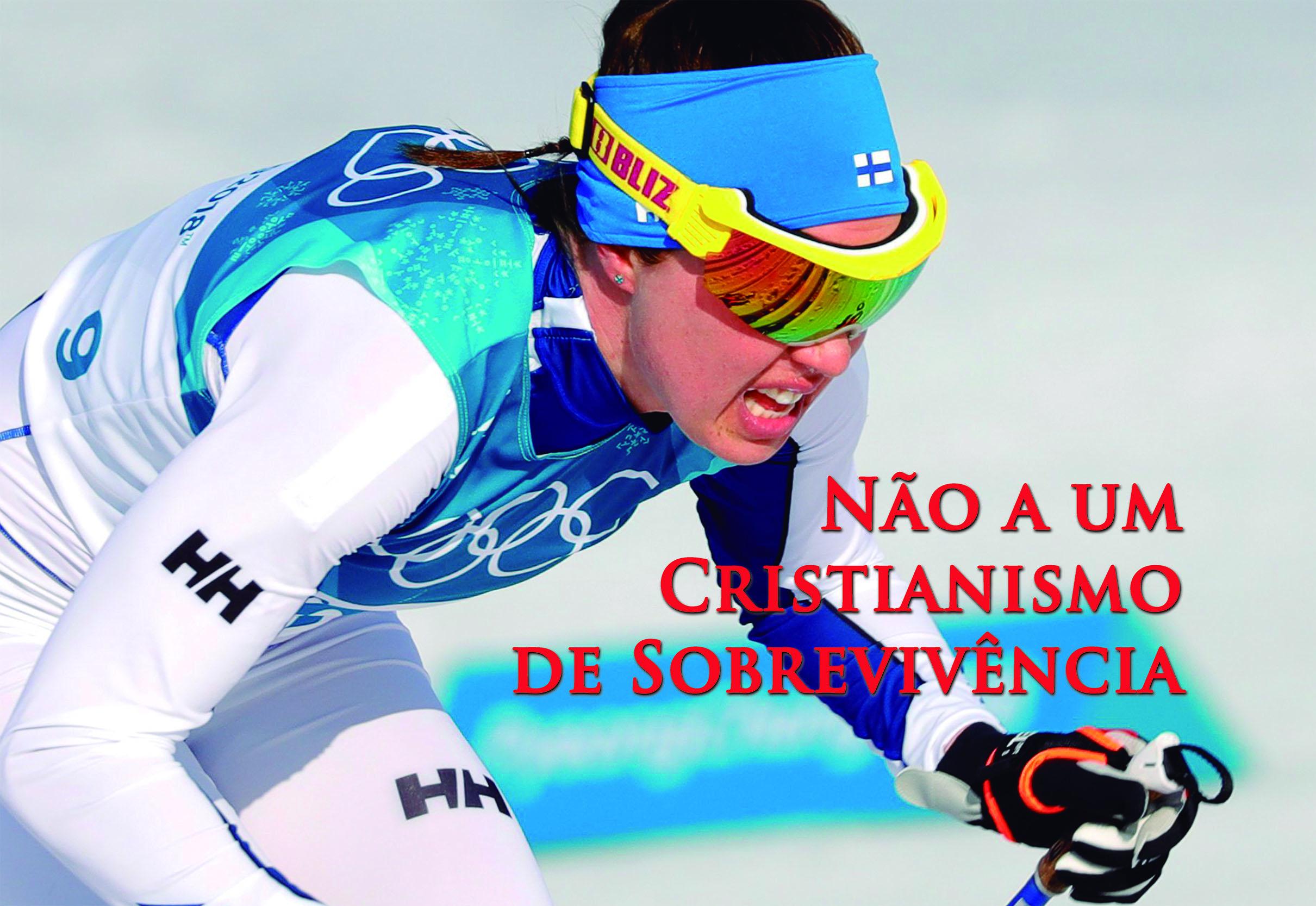 Kerttu Niskanen da Finlândia durante o Cross Country feminino 30 km, durante os Jogos Olímpicos PyeongChang 2018, Coréia do Sul, 25 de fevereiro de 2018. EPA / ANTONIO BAT