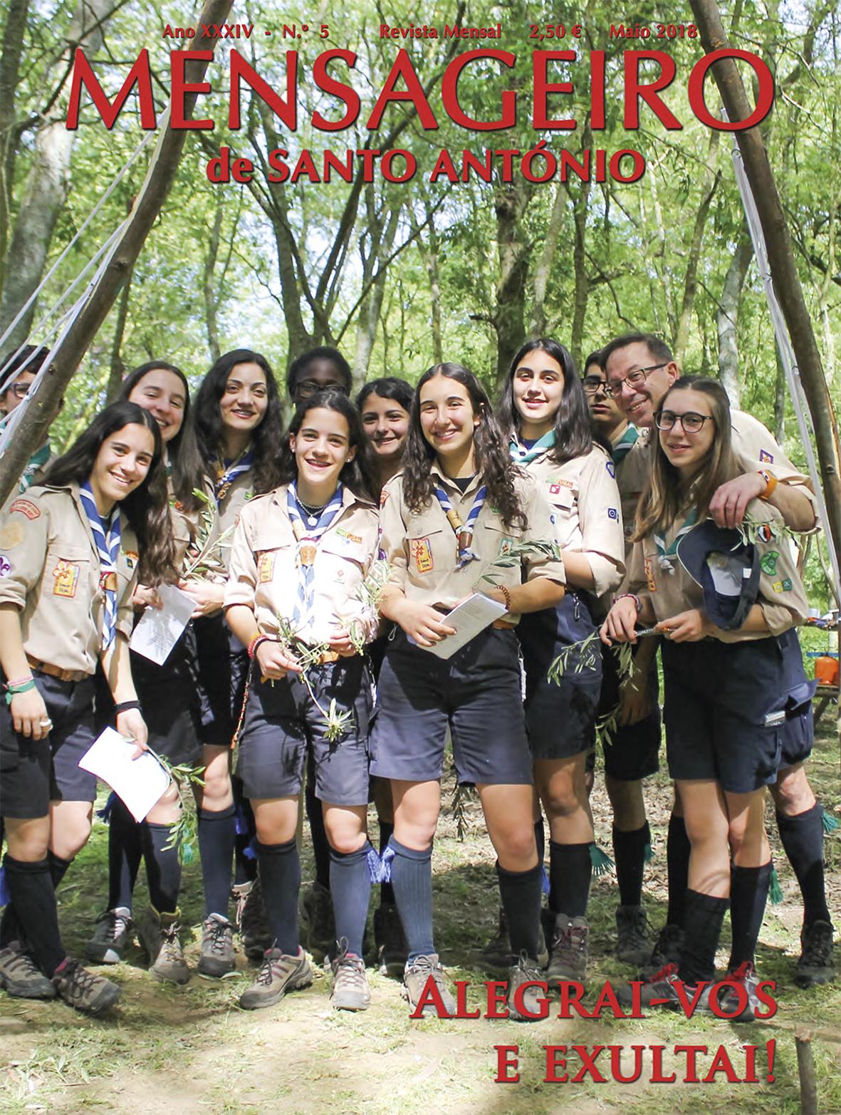 Mensageiro de Santo António, edição maio 2018
