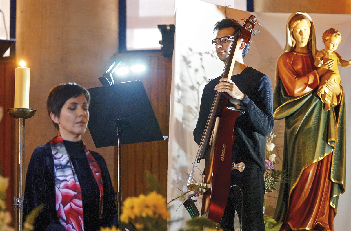 Oratória Mariana, com Teresa Salgueiro,nos 25 anos da dedicação da igreja de S. Maximiliano Kolbe, Lisboa. Foto MSA/Xan.