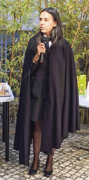 Ana Rita Cruz Santos, Presidente da Associação de Estudantes da Faculdade de Teologia (Lisboa) (AEFTL), pelo 2º ano consecutivo.