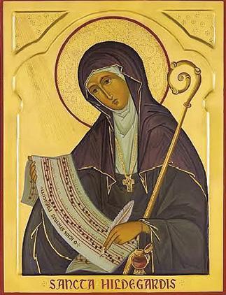 Santa Hildegarda foi a quarta mulher a ser proclamada doutora da Igreja (por Bento XVI, em 2012). Nascida em 1098, foi monja beneditina. Grande conhecedora das verdades teológicas, era uma grande especialista em música e ciências naturais. Morreu em 17.09.1179.