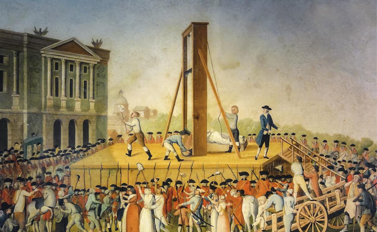Execução da rainha Maria Antonieta, em 1793, na Revolução Francesa. Autor desconhecido. Wikimedia.org.