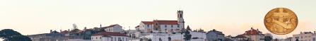 Vista do convento e da igreja de santo antónio dos olivais e do burgo envolvente