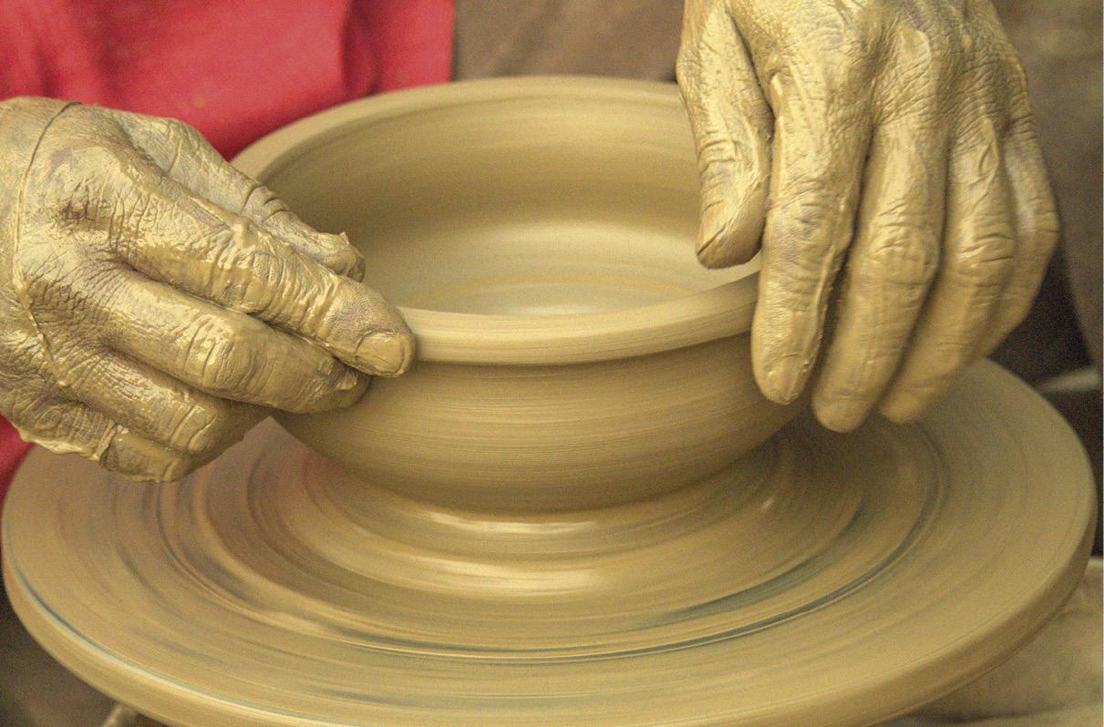 As mãos do oleiro
