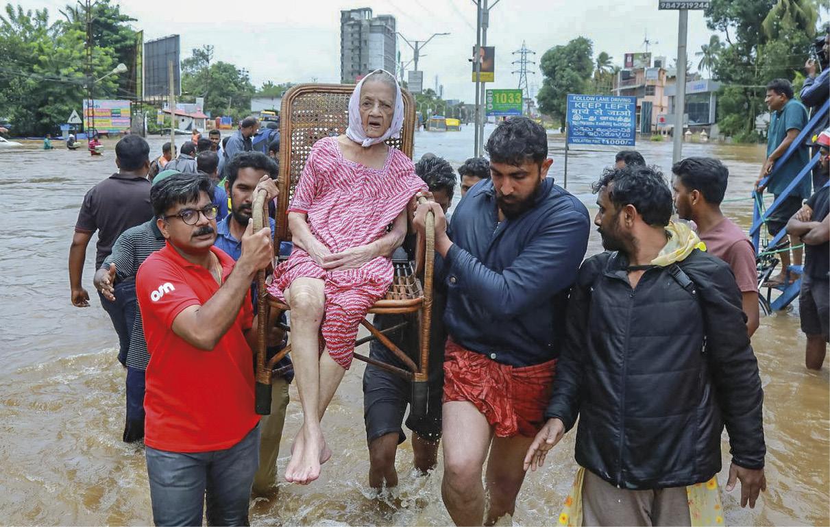 Cheias que devastaram a região de Kerala, na Índia. Solidariedade dos frades franciscanos.