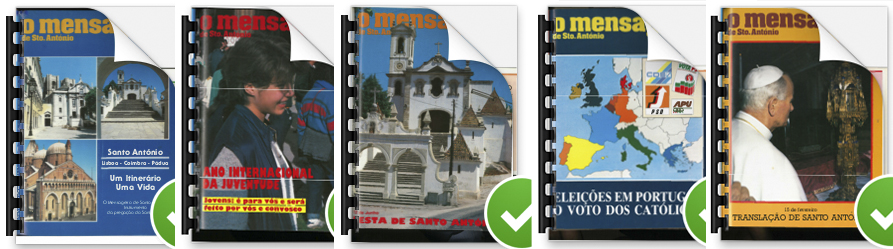 Capas do Mensageiro de Santo António de 1985