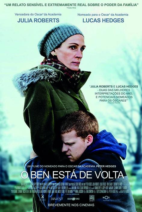 Ben is Back - O Ben Está de Volta, de Peter Hedges, Drama, M/14, EUA, 2018.