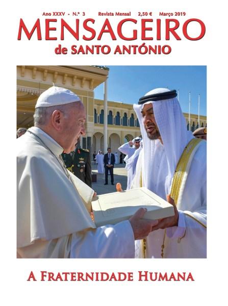 O Papa Francisco com o príncipe herdeiro de Abu Dhabi, xeque Mohammed bin Zayed Al Nahyan, no final da sua visita aos Emirados Árabes Unidos, 5 de fevereiro de 2019. EPA / MÍDIA VATICANA.