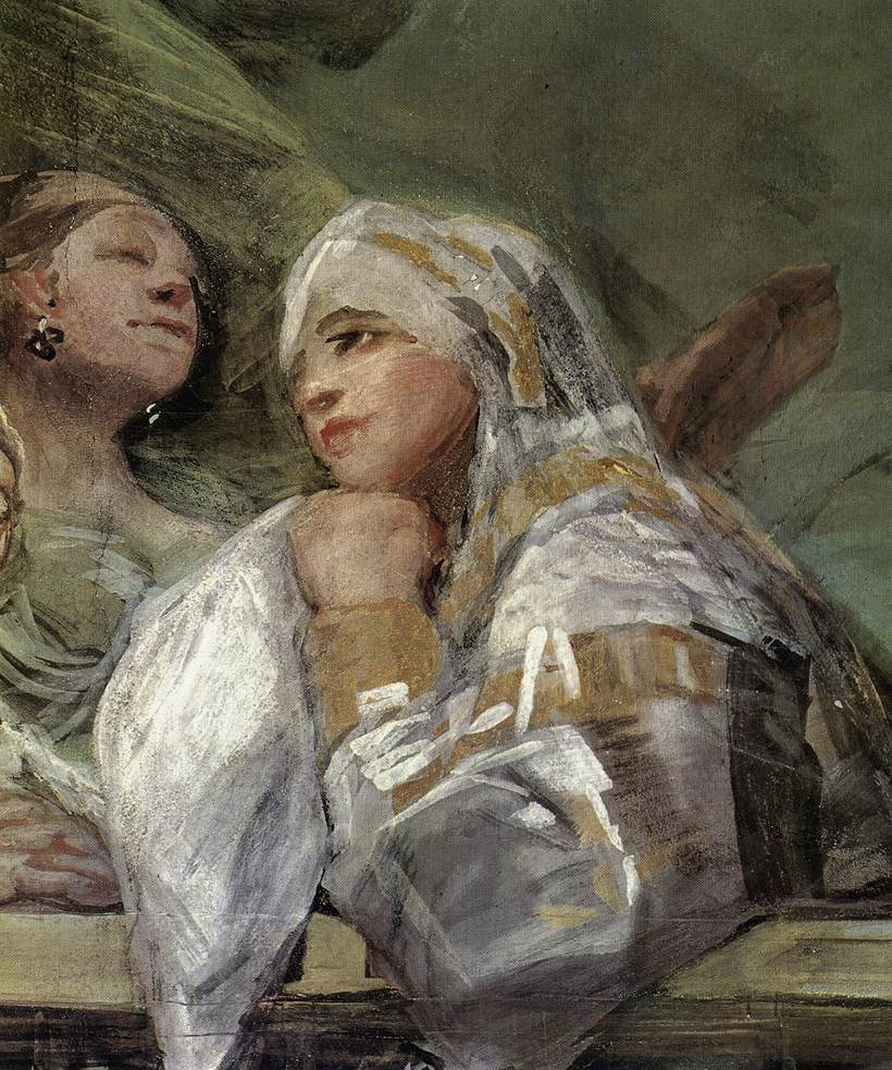 "Pormenor de ""O Milagre de Santo António"", de Francisco José de Goya ( 1746-1828), cúpula da Capela de Santo António, em Madrid."