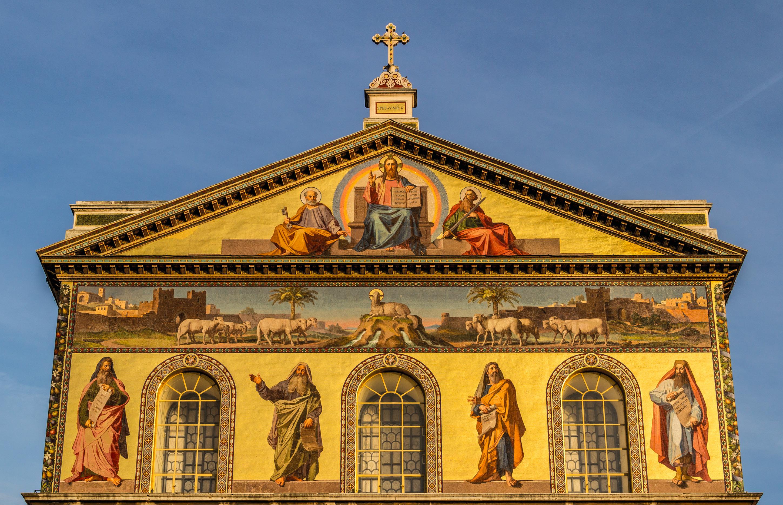 Basílica de S. Paulo extra muros, Roma, Itália. Foto de Dietmar Rabich / Wikimedia Commons / Rome (IT), Sankt Paul vor den Mauern -- 2013 -- 4057 / CC BY-SA 4.0.