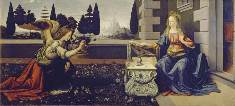 Leonrado da Vinci, A Anunciação