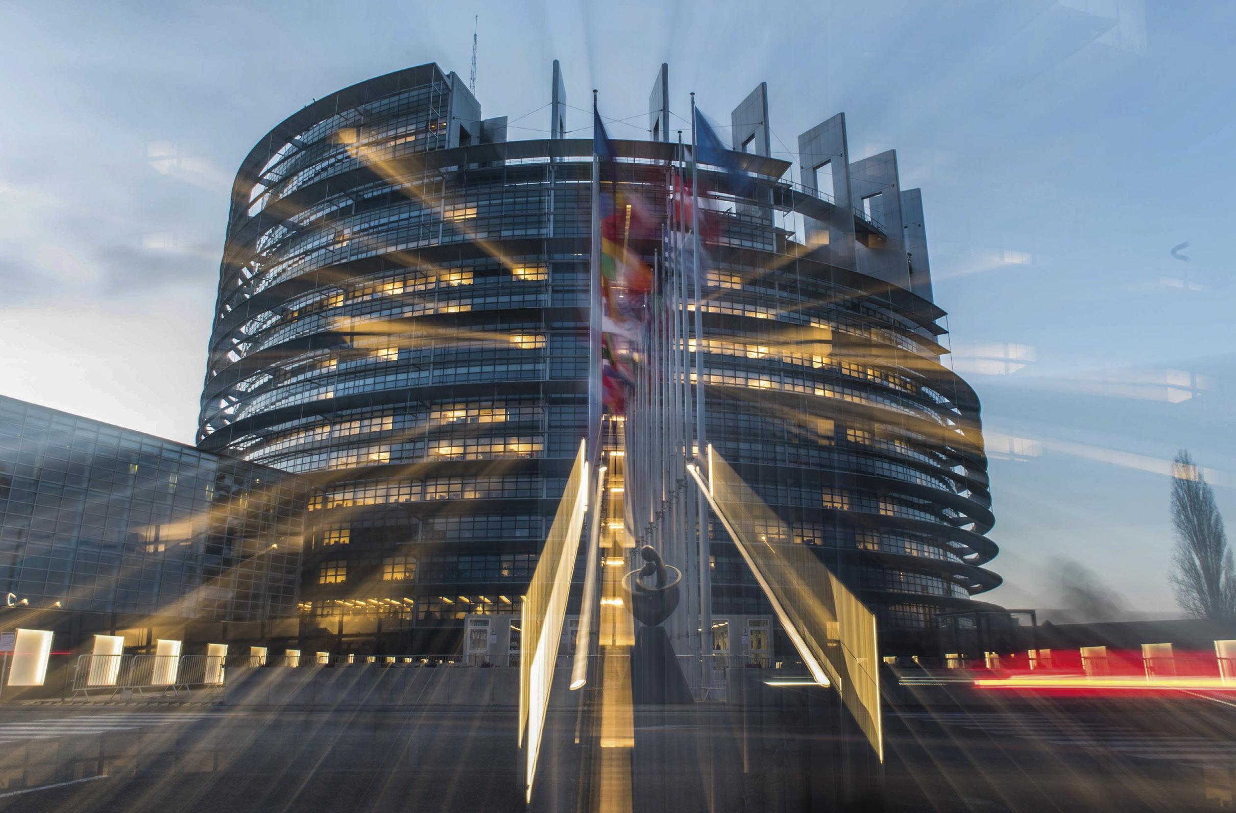 Sede do Parlamento Europeu, Estrasburgo, França, 2018, Foto EPA / PATRICK SEEGER