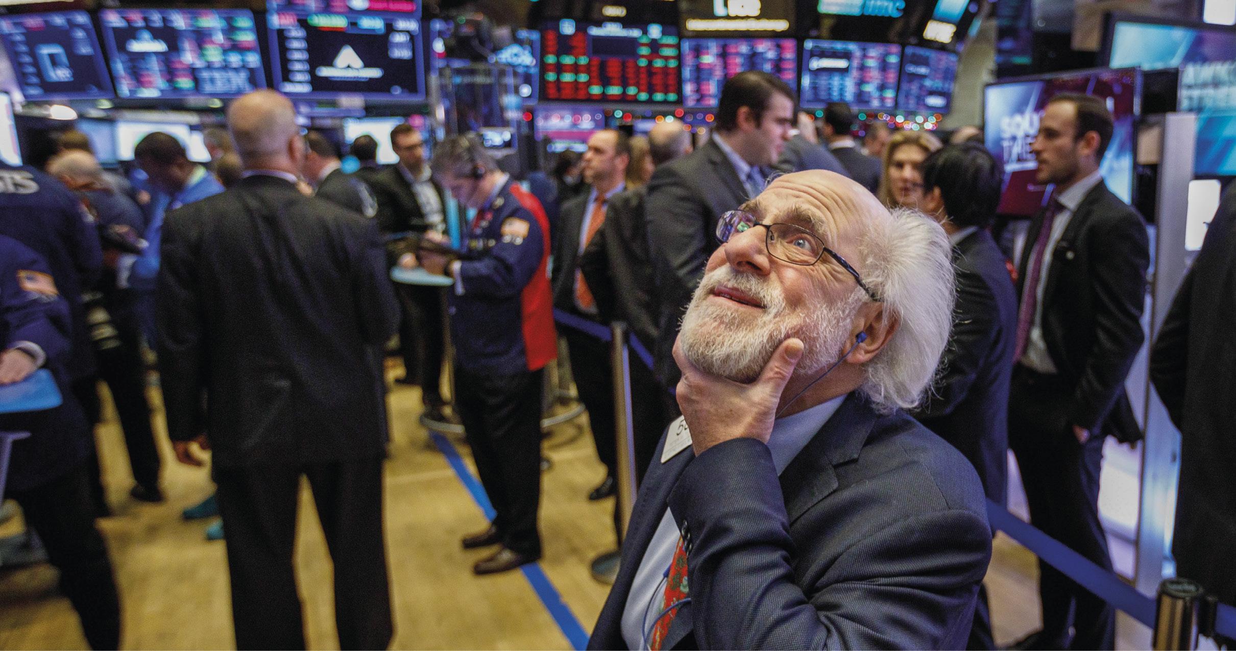 Bolsa de Nova York em queda, face à guerra comercial entre os Estados Unidos e a China, Foto EPA / Justin Lane.