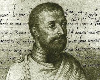 Retrato de Pigafetta, repórter da expedição de Fernão Magalhães (1519-1522). Foi um dos 18 sobreviventes da viagem de circum-navegação.