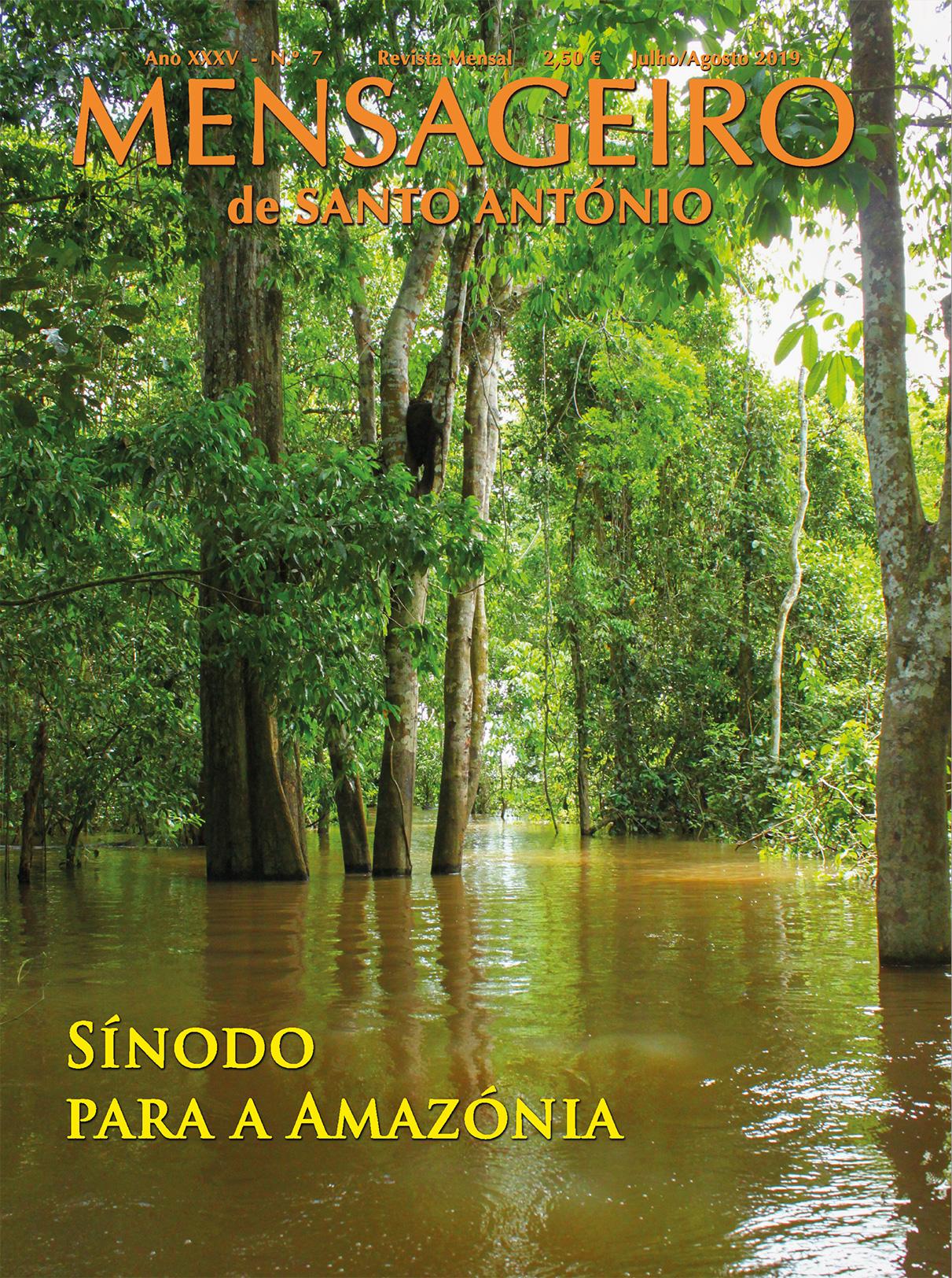 Capa Mensageiro de Santo António, julho agosto 2019, Sínodo da Amazónia.