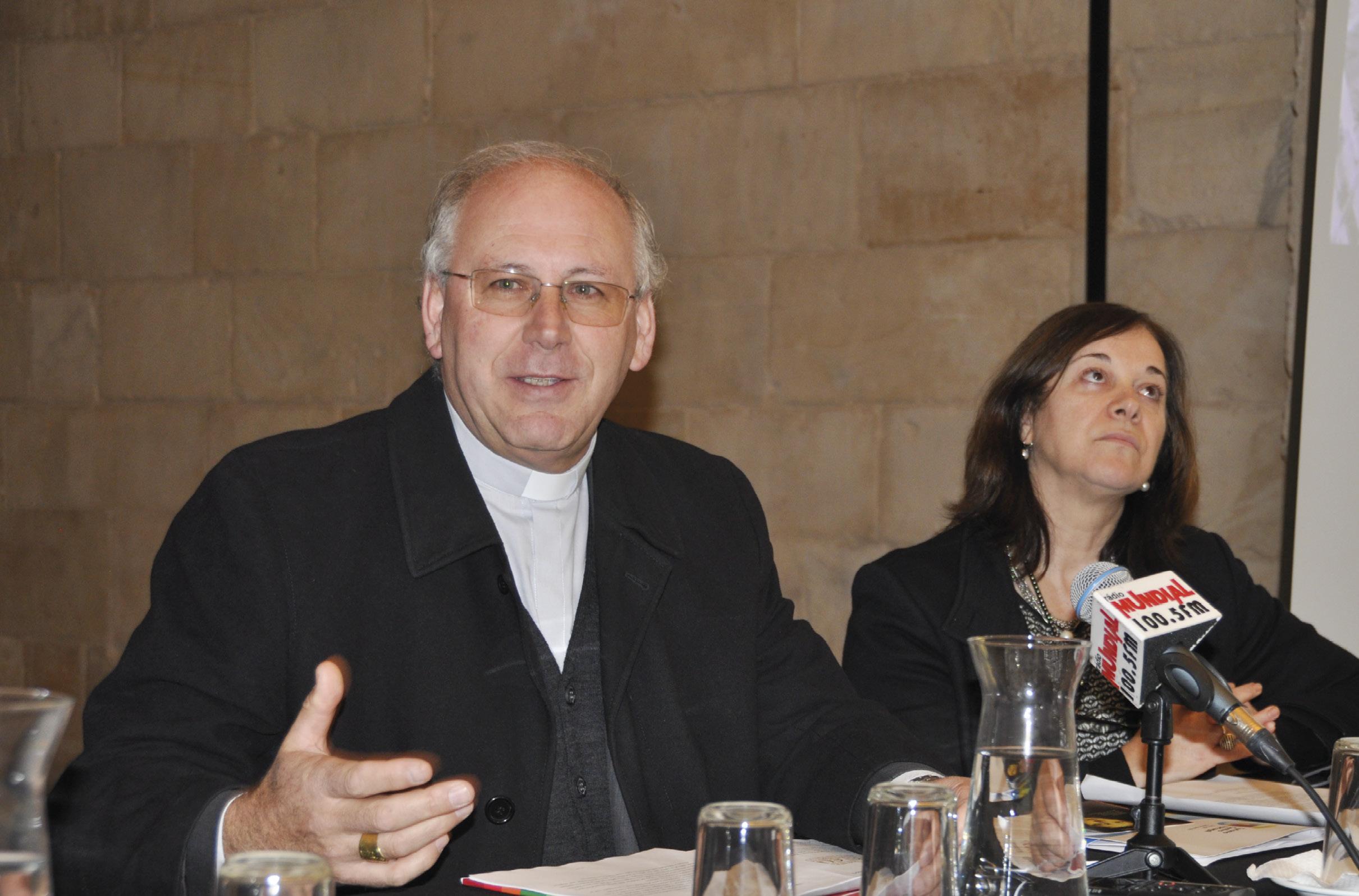 D. Virgílio, bispo de Coimbra, apresenta a Nota Pastoral do Jubileu 2020, em conferência de imprensa, que decorreu no Museu Machado de Castro.