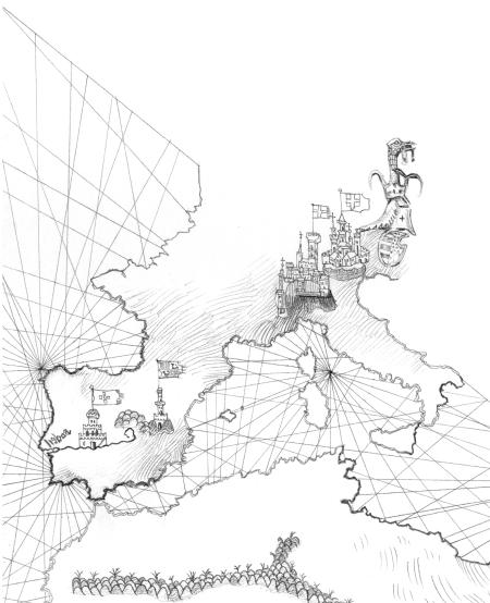 Nos passos de António - o início da viagem, ilustração de Luca Salvagno