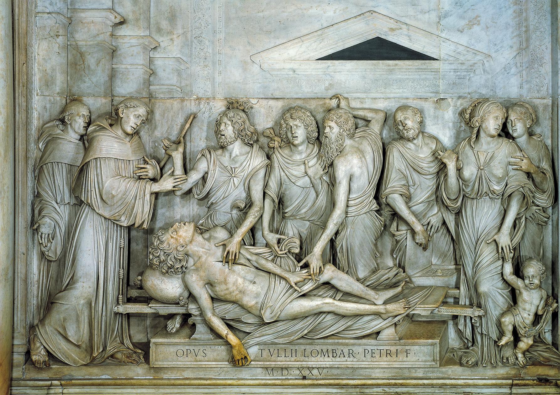 O coração do usurário: Baixo relevo de Antonio Lombardo (1505), Basílica de Santo António de Pádua - Foto de Giorgio Deganello/Archivio Messaggero di sant'Antonio.