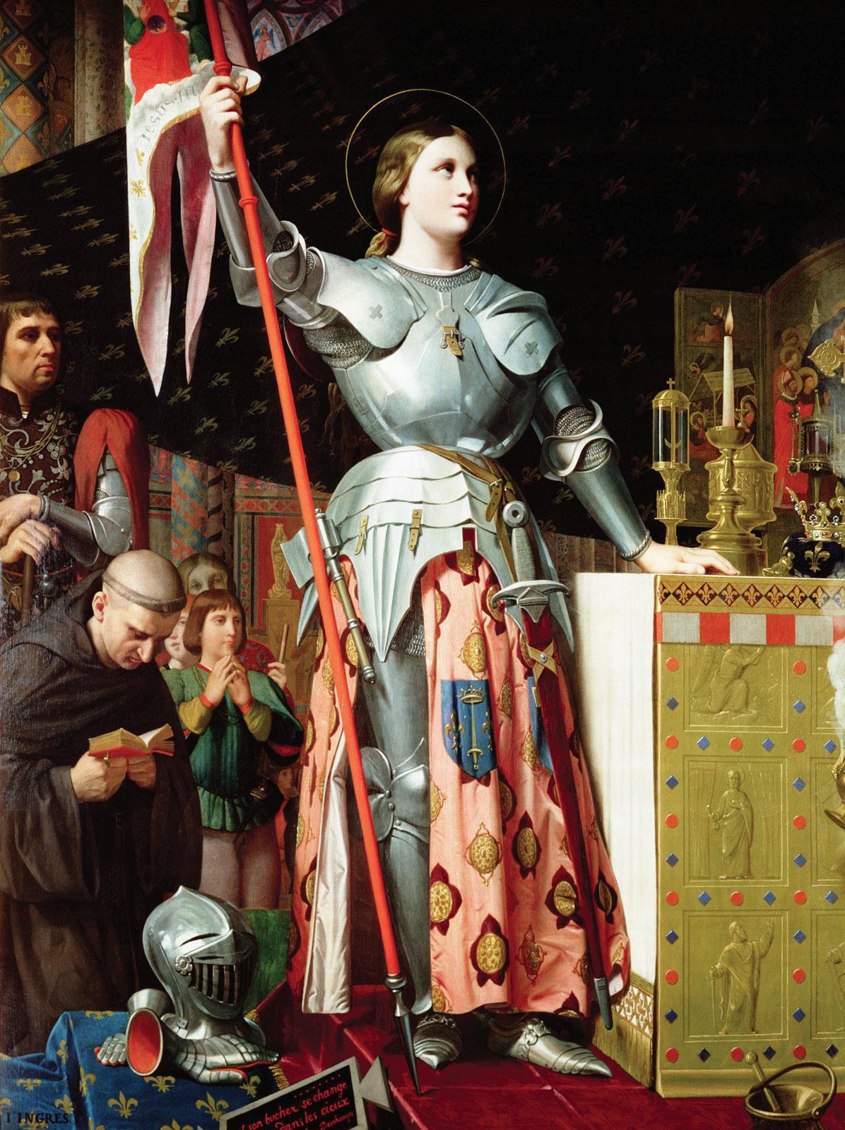 Joana d'Arc n Coroação de Carlos VII, de Jean Auguste Dominique Ingres, 1854. Foto cartelfr.louvre.fr | Wikimedia Commons