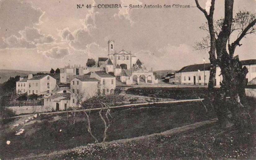 Santo António dos Olivais no 1º quartel do sec. XX, postal ilustrado
