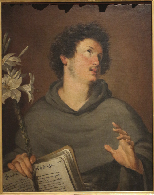 Santo António, Bernardo Strozzi, sec. XVII, Museu Civico Ala Ponzone. Wikimedia Commons | foto Saiki, 2016