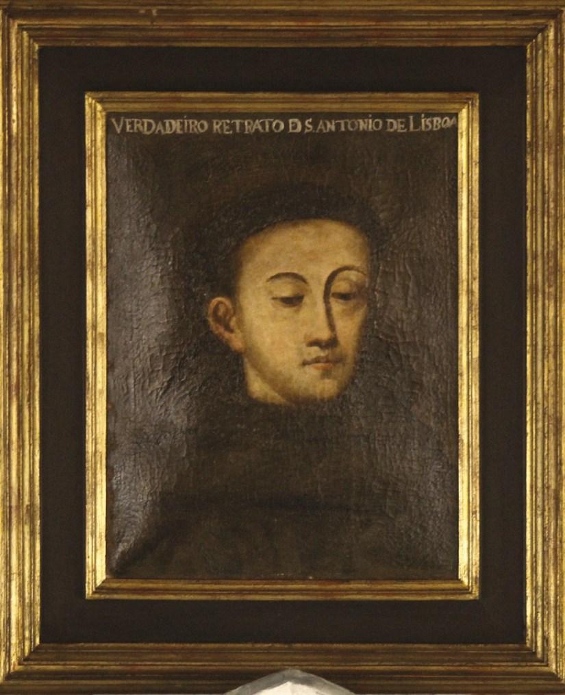 Retrato de Santo António na sacristia da Igreja / Convento de Santo António dos Olivais, Coimbra.