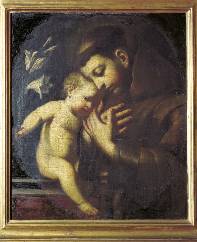 Menino Jesus aparece a Santo António, foto Messaggero di Sant'Antonio | Deganello Giorgio, 1995.
