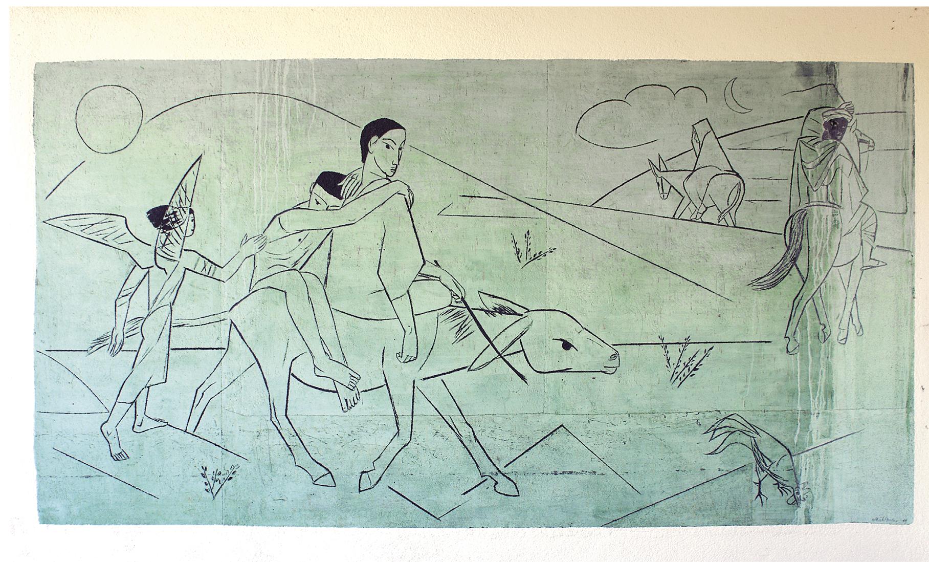 Sgraffito, o bom samaritano (Max von Mühlenen 1949). Foto AnBuKu, Commons Wikimedia