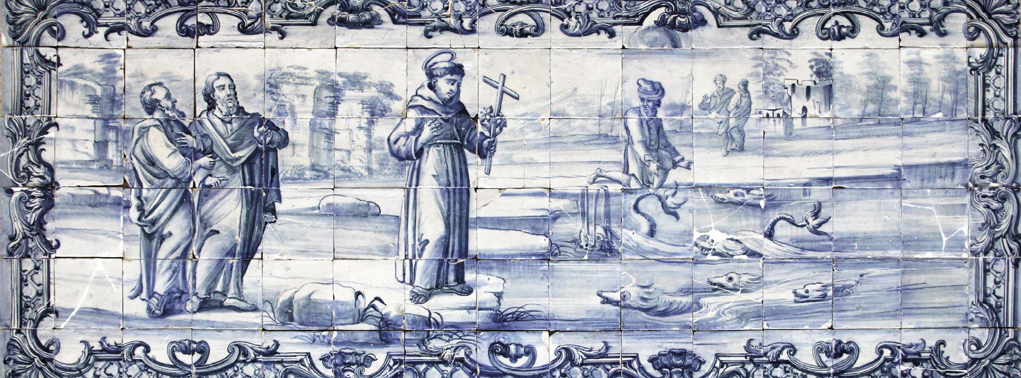 Sermão de Santo António aos Peixes, Painel de Azulejos, Autor desconhecido, Séc. XVIII (meados), MA.AZU.0007.