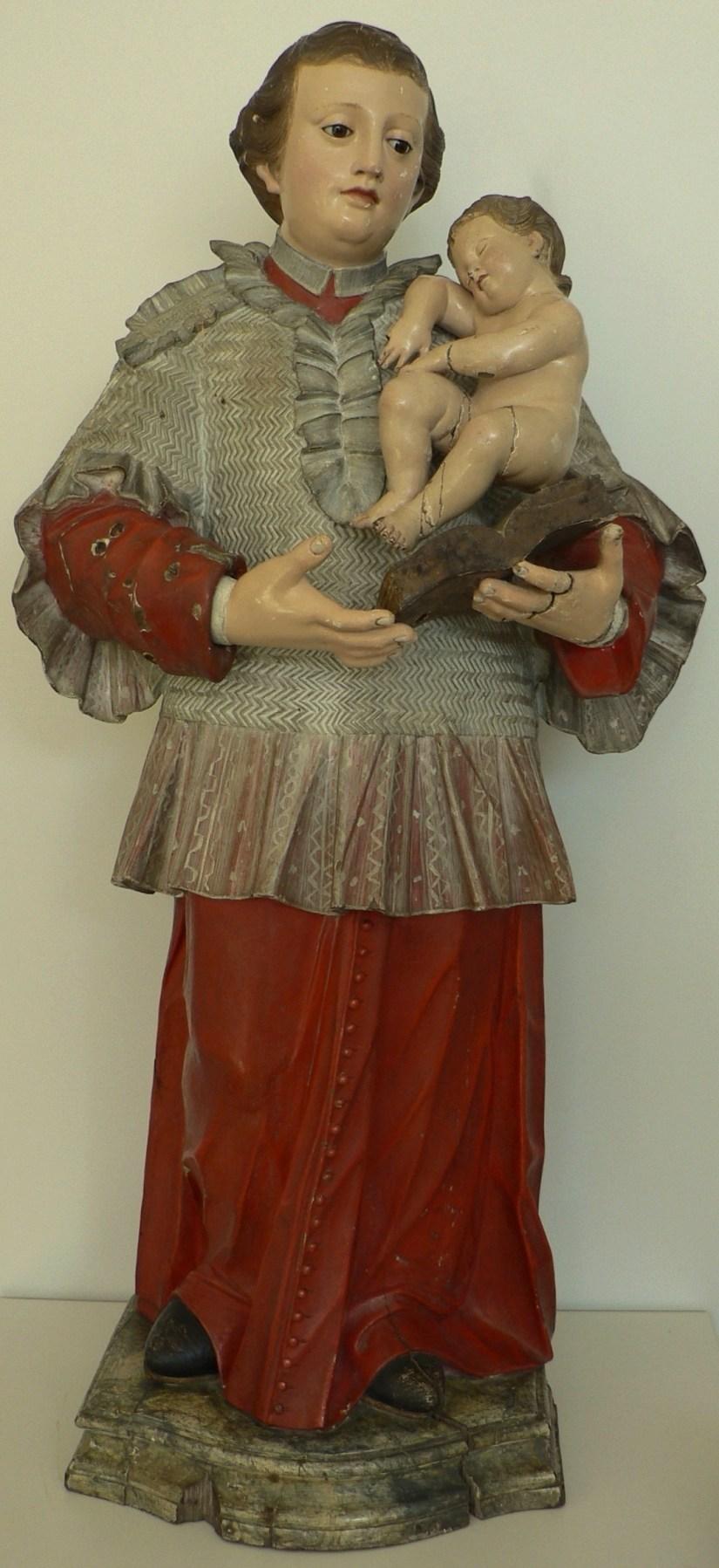 """Fig 8 - Santo António, Cónego Regrante de Santo Agostinho - Sé de Aveiro – MA Inv. 25/B. Esta imagem, restaurada em 2017-2018, está em """"empréstimo temporário"""" no núcleo do Museu de Santo António da Câmara Municipal de Lisboa."""