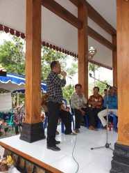 Sambutan oleh Bpk. Muhammad Sobrowi selaku ketua Karangtaruna Gemuh