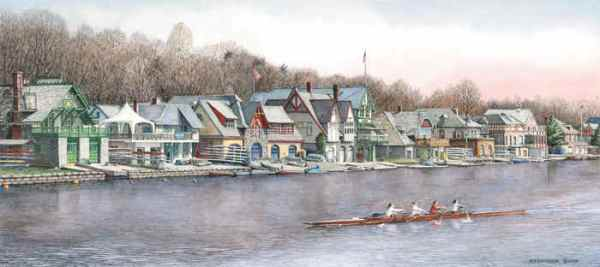 Boathouse Row 5 by N. Santoleri