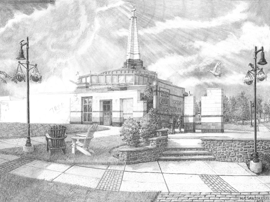 Episcopal Academy Pencil Drawing in Progress 08