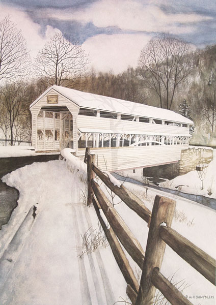 Knox Bridge Santoleri limited Edition Prints from Watercolor Painting