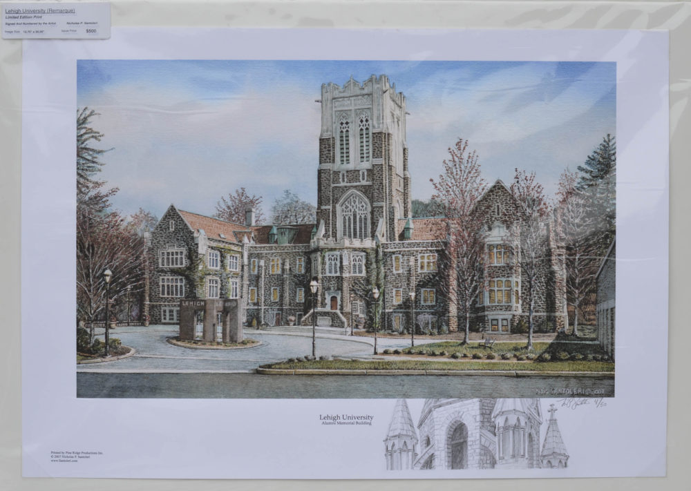 Lehigh University Remarqued Print