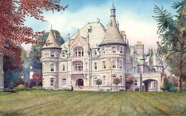 Rosemont College by Santoleri limited edition prints from watercolor painting