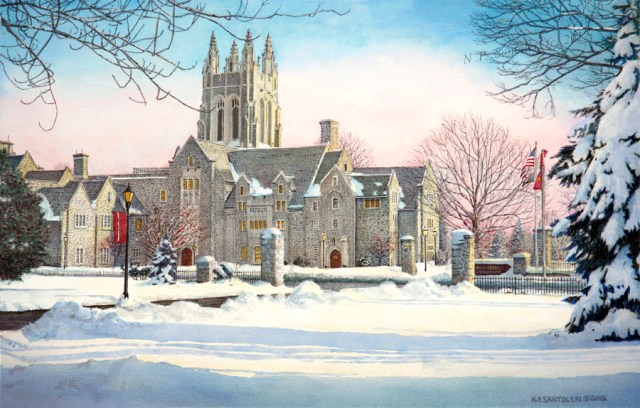 University art prints of Saint Josephs University 3 - by N. Santoleri University Prints