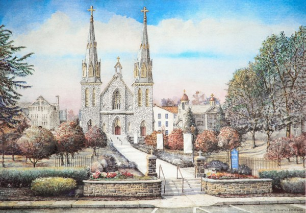 University Art Prints Saint Thomas of Villanova 4 by Santoleri