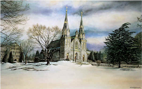 Villanova Chapel at Villanova Santoleri limited Edition Print from Watercolor Painting