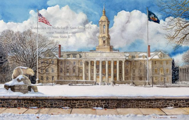 University Art Prints - Penn State 2 by Nicholas Santoleri