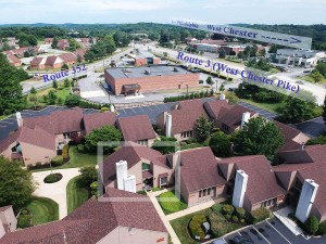Pine Ridge Productions Inc. Aerial View of 1515 West Chester Pike