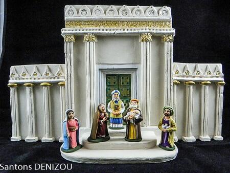 Creche Blanche et temple large 7cm