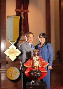 Ardent Senyor Sto Niño Devotee & Organizer Couple receives Papal Award
