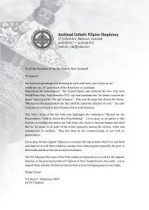 Sinulog 2013 Message from Fr. Elmer Dimarucut, MSP