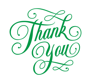 A Message of Thanks