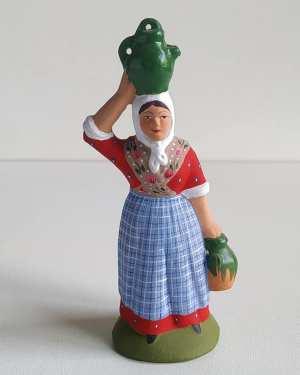Femme à la cruche d'eau santons de provence