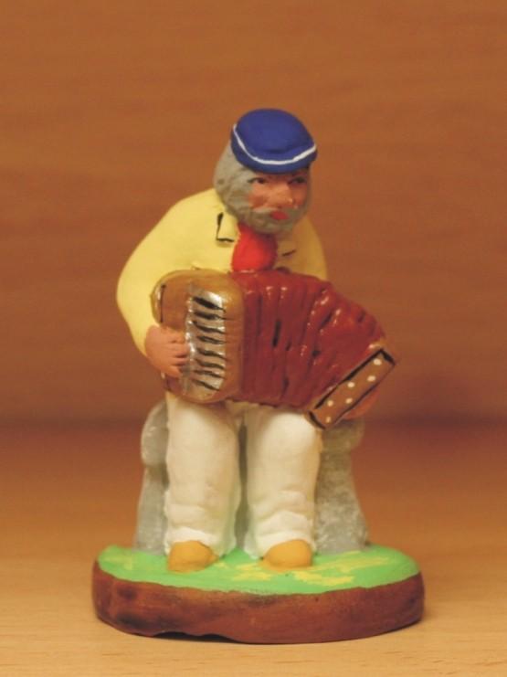 Joueur d'accordéon santons de provence